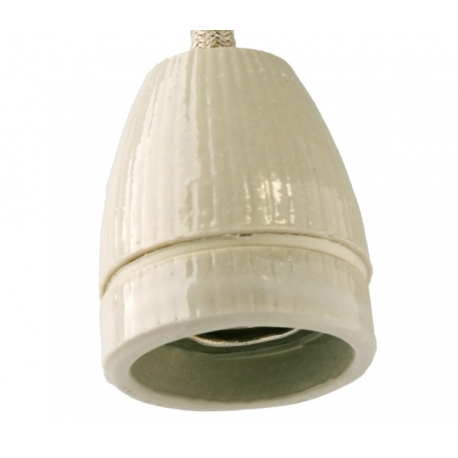 hanging lampholder with glaze
