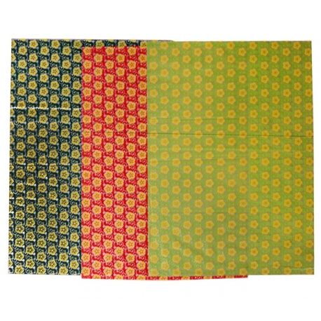9 pcs. wrapping paper floral 1