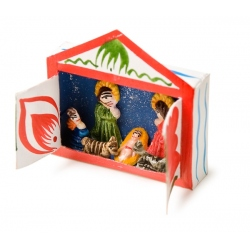 nativity scene out of paperboard