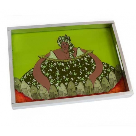 tray with painting