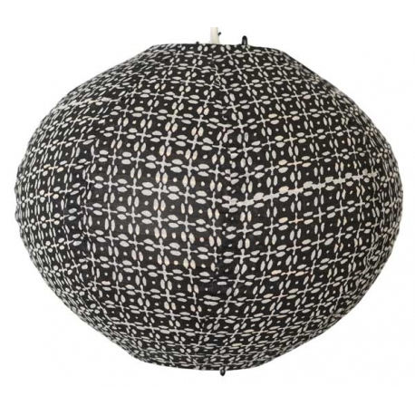 lampshade blockprint round