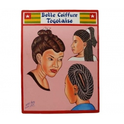 Holzschild Belle Coiffure Togolaise