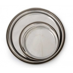 round plate steel luxe