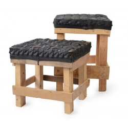 stool, recycled tyres