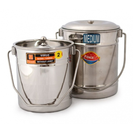bucket stainless steel