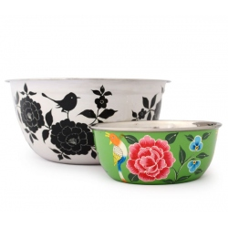 bowl stainless steel painted, L